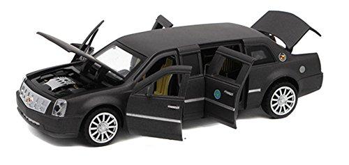 Berry President 1:32 Limousine Car Electric Toy Sound & Light - Birthday (Black)