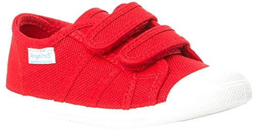 Zapatillas de Lona Para Niños con Puntera Reforzada, Mod.128, Calzado infantil Made In Spain (26, Rojo)