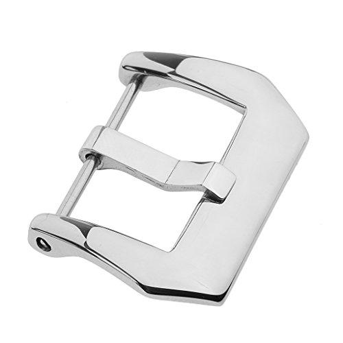 MagiDeal Boucle de Montre Bracelet Ardillons Fermoirs en Acier INOX Argent - 18mm