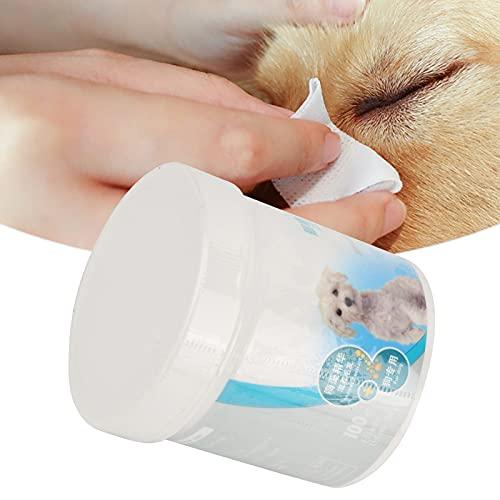 Seacanl Toallitas para Ojos para Mascotas, toallitas para oídos para Perros Toallitas Suaves Naturales para Mascotas portátiles para Eliminar la Suciedad de los Ojos y Dejar Marcas de lágrimas para