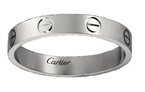CARTIER カルティエ リング LOVE ウェディング リング 指輪 (11, ホワイトゴールド)