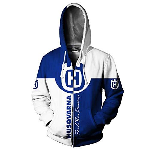 xiaosu Männer Hoodies Jacke 3D Digital Gedruckt Mit Kapuze Pullover/Zip Zum Neu Stil Husqvarna Sweatshirts Fans Jersey Sport / A2 / XXL