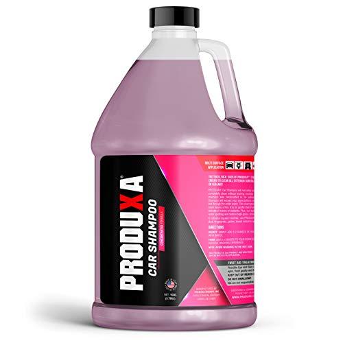 PRODUXA Premium Car Shampoo - 1 Gallon, Free-Rinsing, Ph-Balanced Concentrated Formula, Spot-Free and Streak-Free Car Wash Soap, For All Vehicles