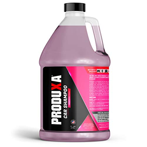 PRODUXA Car Shampoo: Revolutionary Ph-Balanced Concentrated Formula, Wash & Seal for Safe Washing, Spot Free Cleaning Car Wash Soap and Shampoo, 1 Gallon