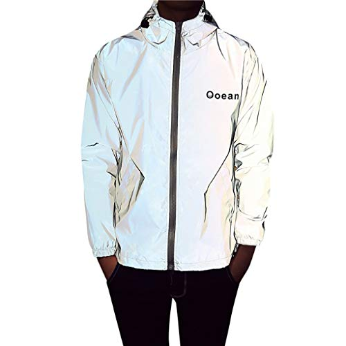 Luckycat Unisex Full Reflective Jacket Flashback reflecterende herenjas loopjack/ademend/winddicht/waterafstotend/reflecterend heren loopfietsjack loop-fietsjack