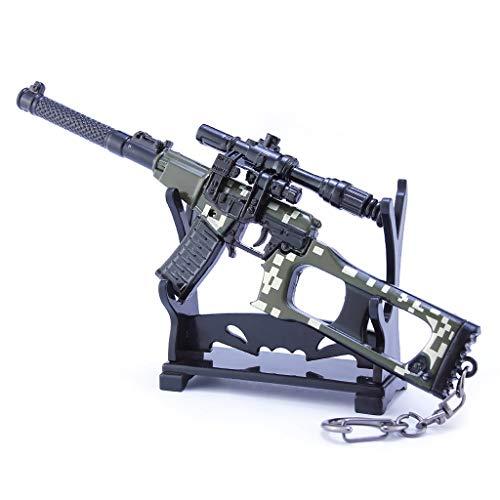 VSS Sniper Rifle Modelo Metal Juguete Llavero, Accesorios de Armas de Juego Adecuado para Niños y Niñas