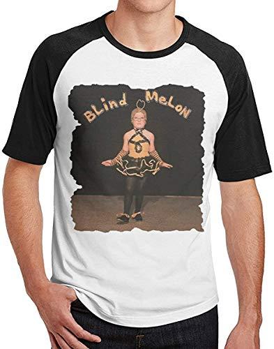 Men Durable Print with Blind Melon Raglan tee,Black,Large