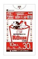 ゴミ袋30L 500x700x0.015厚 乳白半透明 10枚 HDPE+META素材 エコ袋 KS-34bara