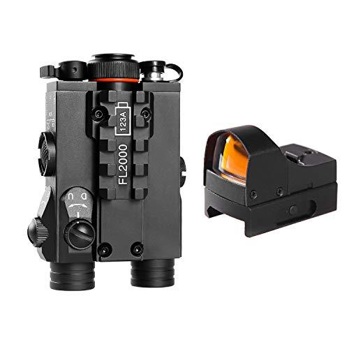Sniper FL2000R Green Laser Sight with LED Flashlight Combo W/Red Dot Reflex Sight