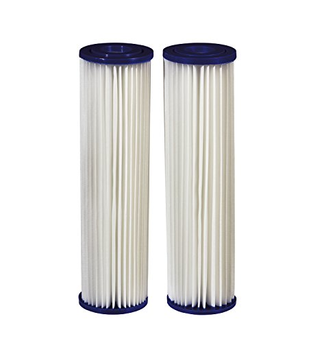 Filtrete Standard Capacity Whole House Pleated Replacement Water Filter 3WH-STDPL-F02, 2 pack, for use with 3WH-STD-S01 System