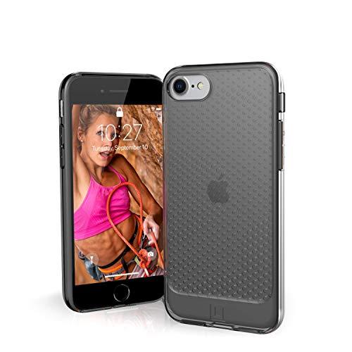 U by UAG [U] Lucent Case Apple iPhone SE (2020) / 8/7 / 6S Funda Protectora (Semitransparente, Compatible con la Carga inalámbrica, Resistente a los Golpes) - Ash (Gris Transparente)