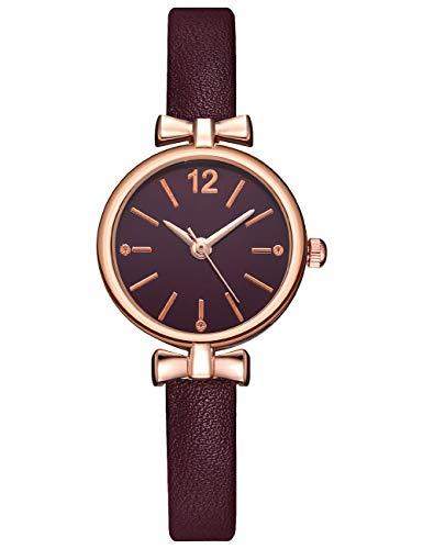 Reloj Mujer Elegante Impermeable Reloj Infantil Niña Cuero Relojes de Pulsera Deportivos Analogicos Reloj para Niños Fecha