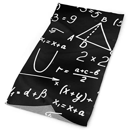 ECNM56B Bandanas sin costuras Álgebra Geometría Matemáticas abstractas Deporte al aire libre...