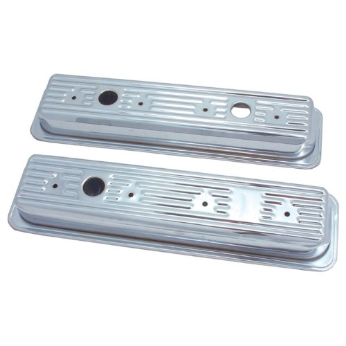 Spectre Performance 5260 Valve Cover for Small Block Chevy, Chrome, (Model: SPE-5260)