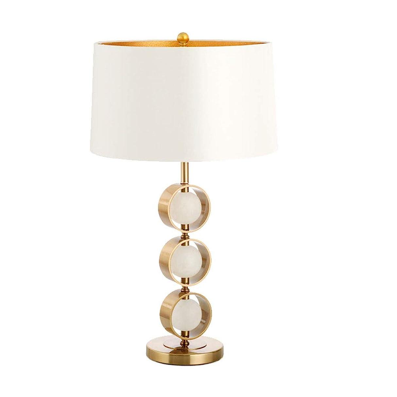 ダブルりんご表示アメリカンデスクランプの寝室のリビングルームハイグレードライト贅沢なクラウドストーンテーブルランプ