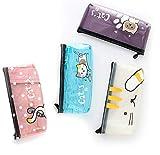 1 Piece Cat Pencil Case Cute Pencil Case Kawaii Stationary Kawaii School Supplies Japanese Stationary Japanese School Supplies Colored Pencil Case School Supplies for Girls Korean Stationary (Random)