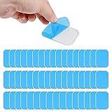 Gel Pads 50pcs,Gel Pad para Electroestimulador Muscular Abdominales Repuesto de Repuesto Accesorios,Reemplazable Hidrogel Gel Pad(25 Paquetes, 2 Piezas por Paquete)