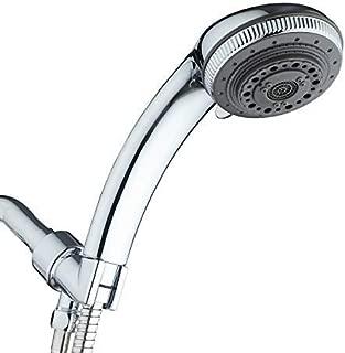 Rain Shower Head 7 Function High Pressure Handheld Showerhead for Bathroom, Chrome Finish