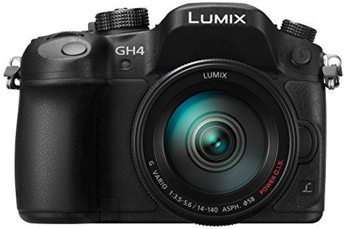 Panasonic Lumix GH4R + H-FS14140 Cuerpo MILC - Cámara digital (16.05 MP, 4608 x 3456 Pixeles, Live MOS, 4K Ultra HD, Pantalla táctil) Color Negro (Versión Importada)