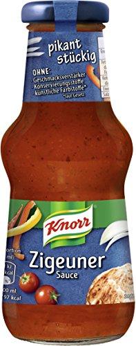 Knorr Schlemmersauce Zigeuner (aromatisch-leicht scharf mit Tomate, Paprika und Zwiebeln), 6er Pack (6 x 250 ml)