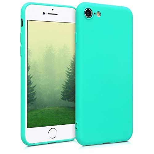 kwmobile Cover Compatibile con Apple iPhone 7/8 / SE (2020) - Custodia in Silicone TPU - Backcover Protezione Posteriore- Turchese Neon
