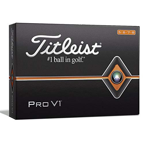 Titleist Pro V1 Golf Balls, White, High Play Numbers (5-8), One Dozen