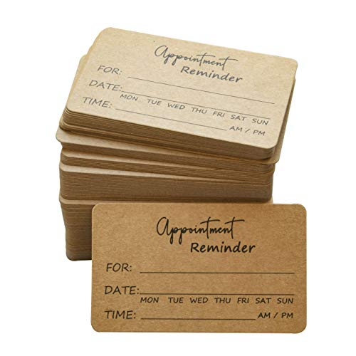 RXBC2011 Appointment Reminder Cards Rustic Kraft Pack of 100
