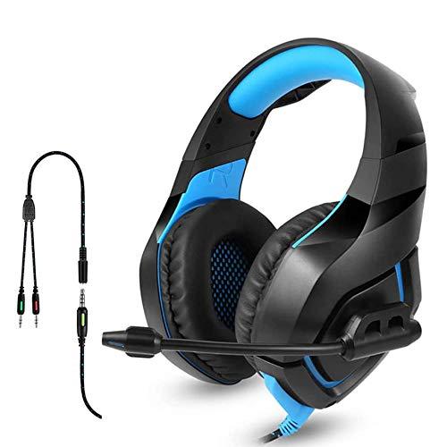 GFDGFDG Auriculares para Juegos PS4, Auriculares Estéreo De PC De 3.5 Mm, con...