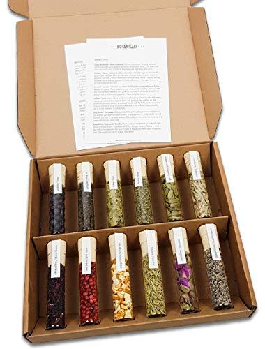 12 frische Gin-Botanicals | DO YOUR GIN bekannt aus Sat1, Vogue, Stern | hochwertige Gewürz-Gläser | Geschenk-Set zum Selber-machen