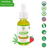 Organic Pure Hemp Oil 30,000 MG, by Kandala for Pain & Stress Natural Hemp Drops – Helps with Sleep, Skin, and Hair (1 Pack, Strawberry)