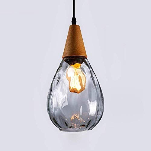 LIXIAOLIANSD Lampadario Pendant Light in Legno Lampadario Soggiorno Creativo Pranzo Camera Hanging Lamp Cafe Apparecchio di Illuminazione E27 / E26 (Color : Clear)