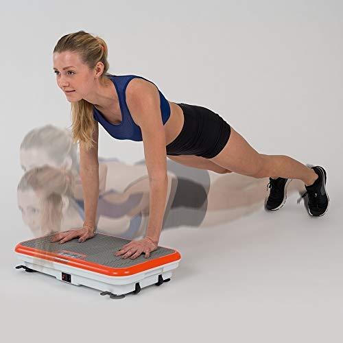 Vibro Shaper Vibrationsplatte Ganzkörper Trainingsgerät rutschfest große Fläche inkl Trainingsbänder Ernährungsplan das Original von Mediashop - 5
