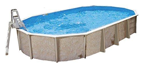 Interline 50000046 oval Pool Diana Durchmesser 6,10m x 3,60m, Tiefe 1,32m, Set ohne Sandfilter