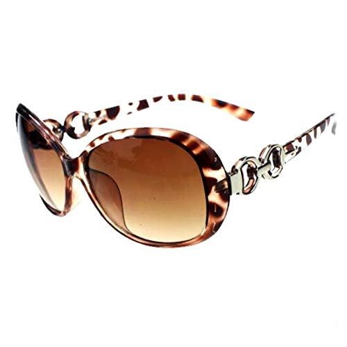 LAANCOO Decoración del día del Marco Ronda Leopardo Gafas de Sol Retro Hombres Mujeres Lente reflejada círculo del Metal Gafas de Sol de San Valentín