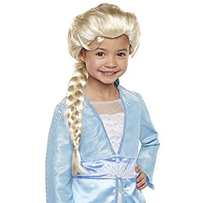 """Disney Frozen 2 Elsa Wig, 20"""" Long with Iconic Braid for Girls Costume, Dress Up or Halloween - For Ages 3+"""