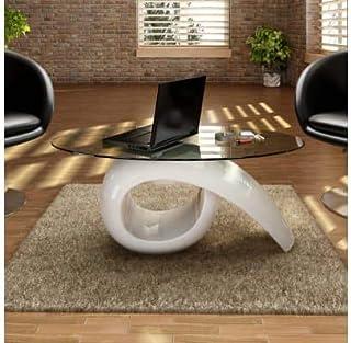 Amazon It Tavolo Vetro Ovale Arredamento Casa E Cucina