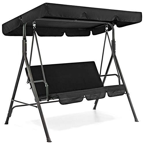 Yimixz 3 Seat Swing Canopies Seat Cushion Cover Set Patio Swing Chair Hammock Replacement Waterproof Garden