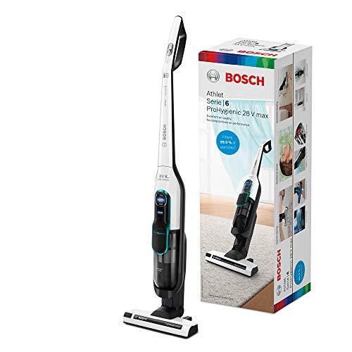 Bosch Hogar Serie|6 Athlet ProHygienic Aspirador sin Cables, 3 Velocidades, Blanco