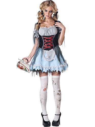 InCharacter Costumes Women's Zombie Beer Maiden Costume, Grey/Black, Small