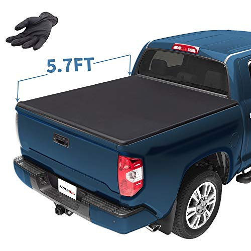 YITAMOTOR Soft Tri-Fold Compatible with 2019 Dodge Ram 1500 Truck Bed Tonneau Cover 5.7 ft