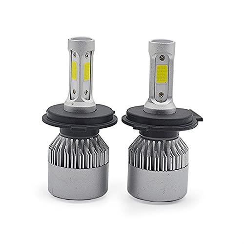 lxxiulirzeu Bulbos de Faros LED de automóvil HI-LIG Auto Auto FUERNÍCULO Fog Bulb DC12V 24V H4 H7 H11 H1 H3 9005 9006 72W 8000LM 6500K (Socket Type : H11)