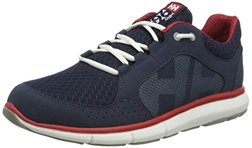 Helly Hansen Herren Ahiga V4 Hydropower Bootsportschuhe, Blau (Navy/Flag Red/Off White 597), 47 EU