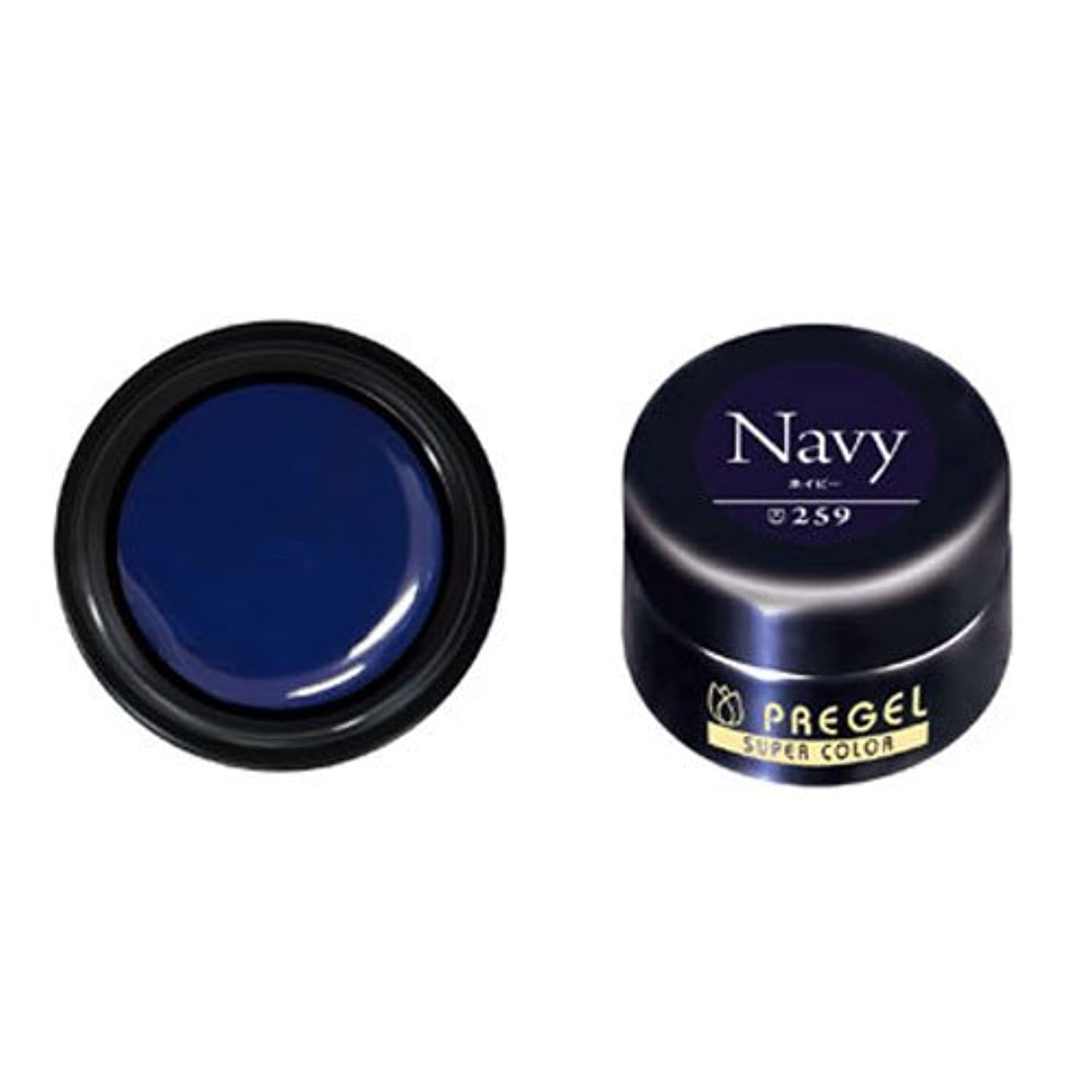 受信機警官北方プリジェル スーパーカラーEX ネイビー 4g PG-SE259 カラージェル UV/LED対応