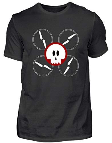 Generieke duivels-drone - drone met doodskop en vier messcherpe rotorbladen. - Herenshirt