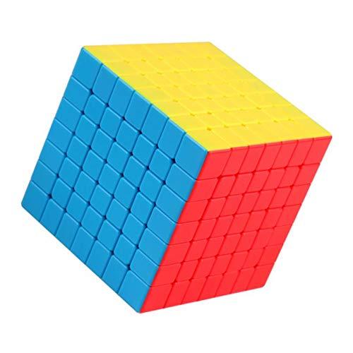 P Prettyia 7x7x7 Cubo Mágico de Juego de Rompecabezas de Novedad para Adolescente Niños - Vistoso
