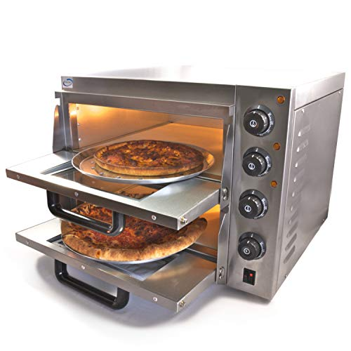 Chef-hub Double Deck Stone Base Electric Commercial Pizza Oven 3KW, Pizza maker, Oven Pizza Maker, With Timer