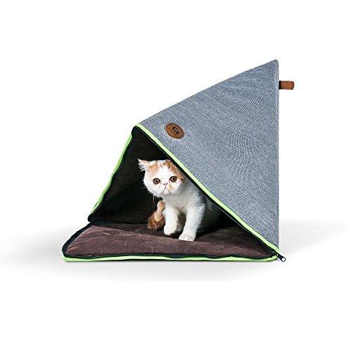Cama Plegable para Gatos, Alfombra de Gatos Casa para Mascotas Gato Cueva...