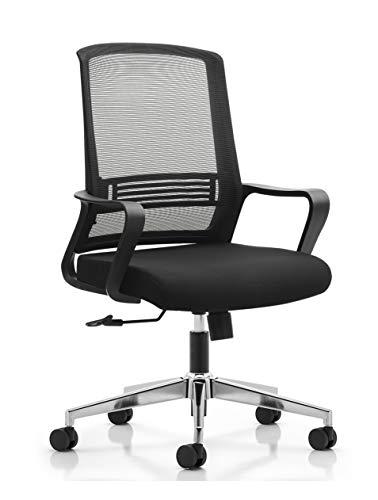 Ribelli Ergonomischer Bürostuhl - höhenverstellbarer Drehstuhl mit Wippfunktion, Kopfstütze und Armlehne - Schreibtischstuhl mit Leichtlaufrollen - rückenschonend - bis 110 kg belastbar