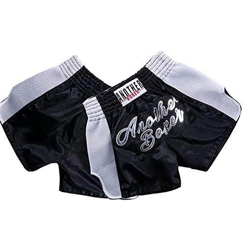 Muay Thai Shorts Trajes de Entrenamiento para Hombres y para Mujer MMA Boxing Pantalones de Combate Gratis UFC Fighting Shorts Black-XS