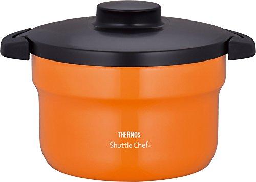 サーモス 真空保温調理器 シャトルシェフ 2.8L (3~5人用) オレンジ 【調理鍋ふっ素コーティング加工】 KBJ-3000 OR
